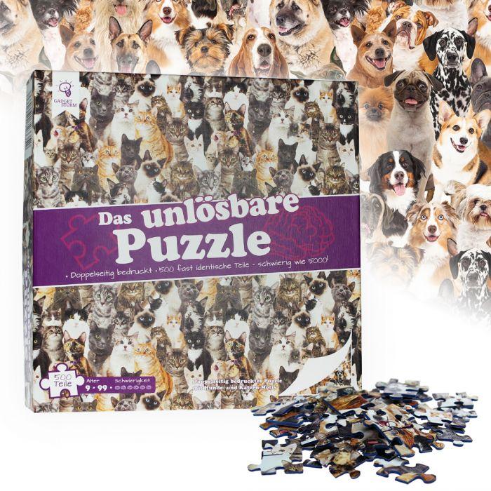 Ausgefallenkreatives - Das unlsbare Puzzle Hunde und Katzen - Onlineshop Monsterzeug
