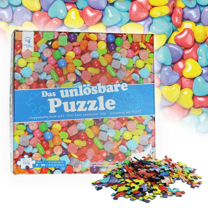 Das unlösbare Puzzle - Süßigkeiten 500 Teile doppelseitig