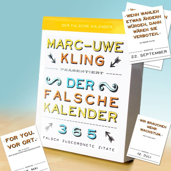 der falsche kalender witziges buch von marc uwe kling. Black Bedroom Furniture Sets. Home Design Ideas