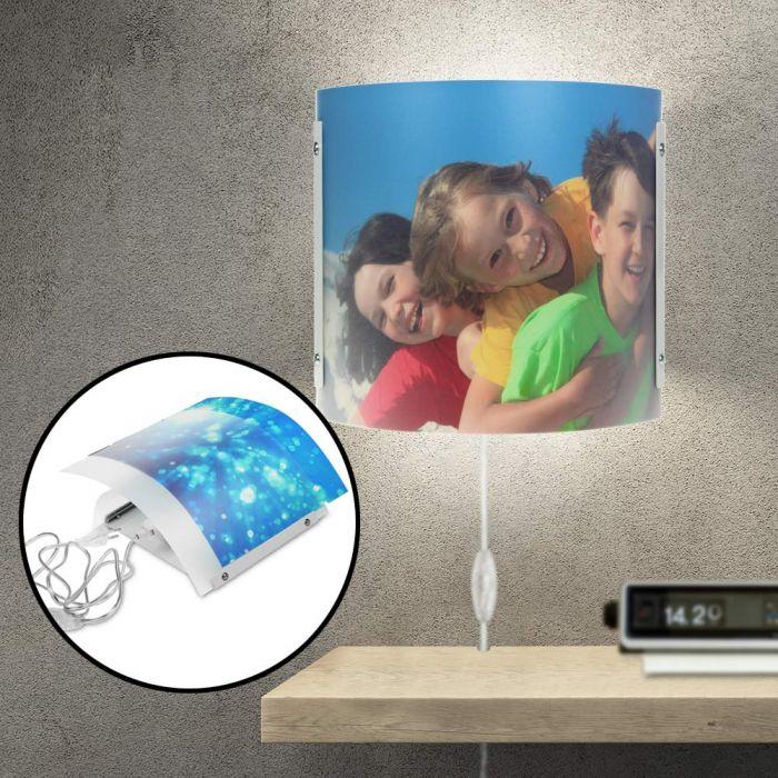 Lampe murale design photo - personnalisée