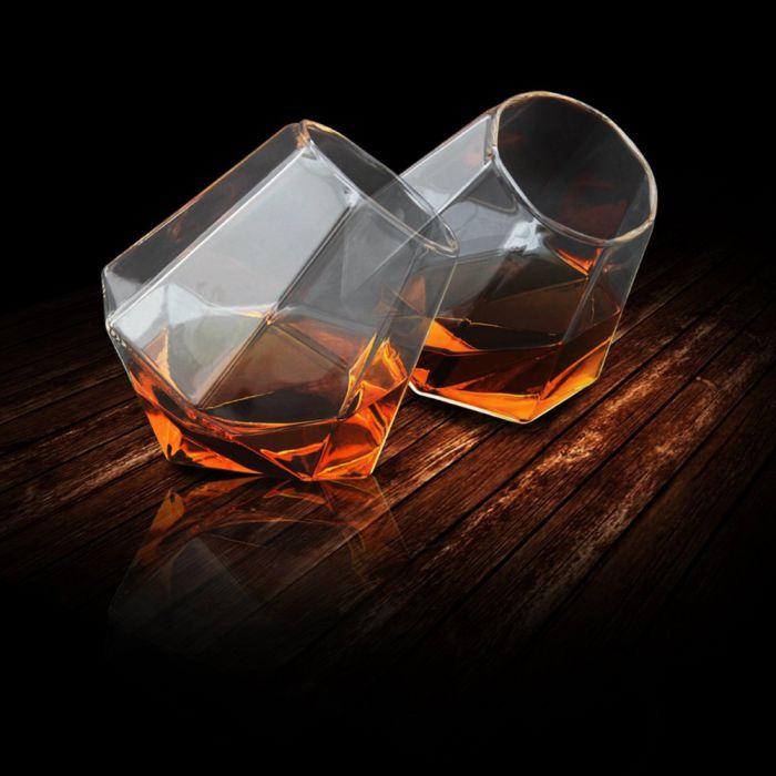 diamant gl ser 2er set originelles trinkgef f r spirituosen und softdrinks. Black Bedroom Furniture Sets. Home Design Ideas