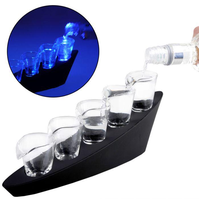 domino schnapsgl ser mit beleuchtung hier flie t der alkohol. Black Bedroom Furniture Sets. Home Design Ideas