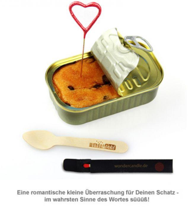 Dosen Kuchen Liebe Mit Wunderkerze In Herzform