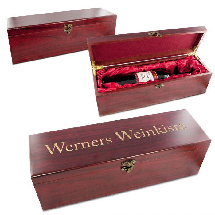 Edle Weingeschenkbox Aus Echtholz Edel Wein Verschenken