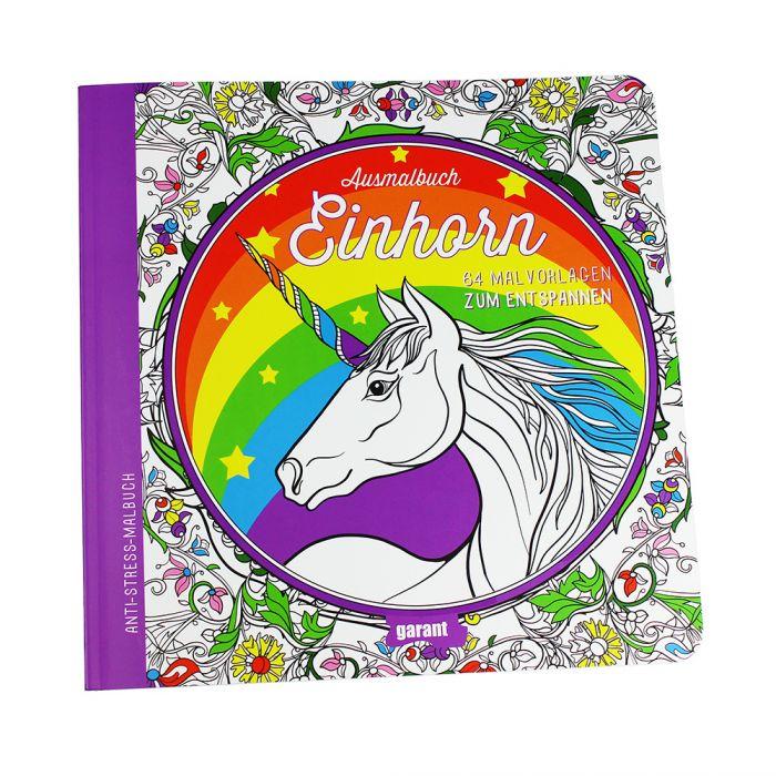 Anti-Stress Einhorn Malbuch mit 64 fantastischen Malvorlagen!