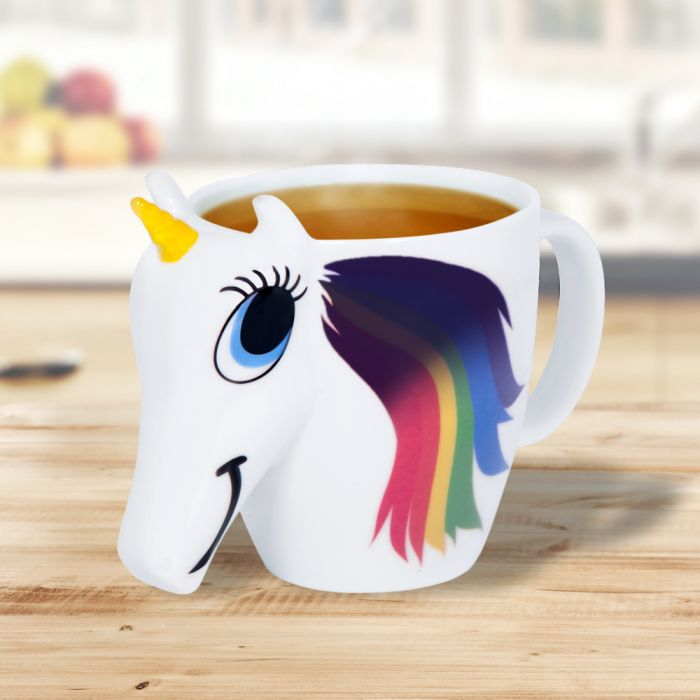 einhorn tasse mit farbwechsel und 3d gesicht unicorn mug. Black Bedroom Furniture Sets. Home Design Ideas