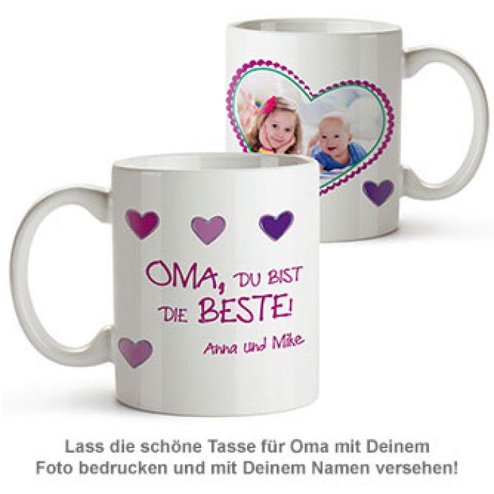 Fototasse - Oma ist die Beste - schönes personalisiertes Geschenk