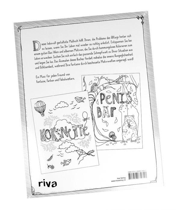 Fuck Ausmalbuch Für Erwachsene Fluch Und Schimpfmalbuch