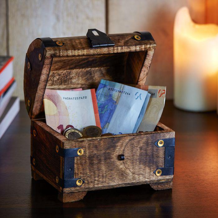 Geld Schatztruhe Zur Konfirmation Dunkel Personliches Geldgeschenk