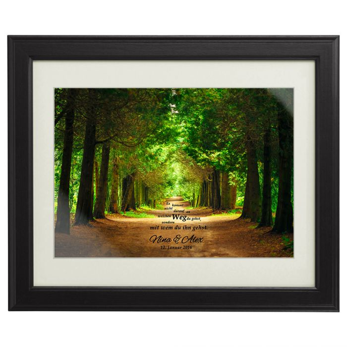Gemeinsamer weg fr hlingsbild personalisiert mit euren - Personalisierte hochzeitsgeschenke ...