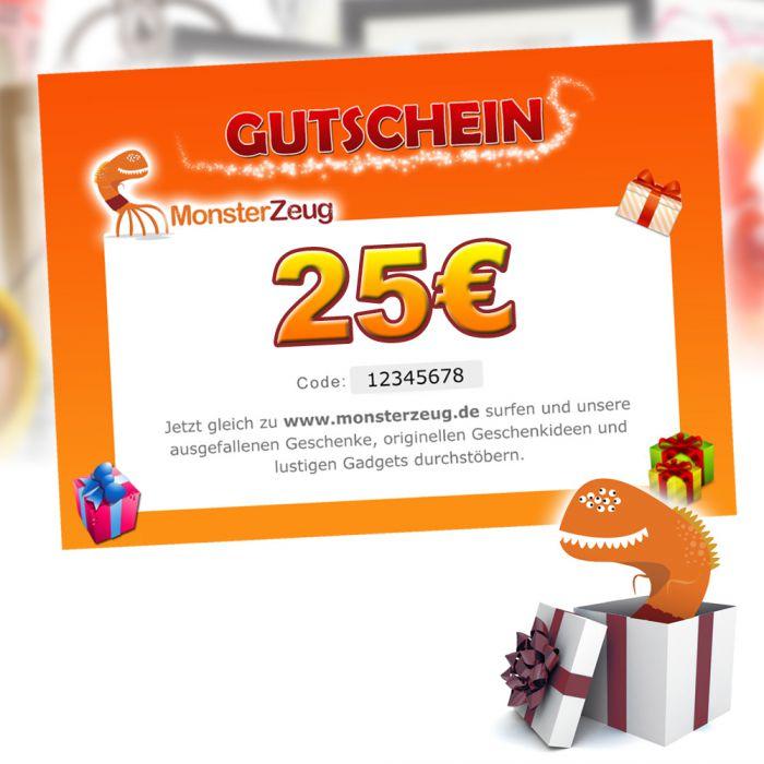 geschenk gutschein 25 euro monsterzeug geschenk gutschein. Black Bedroom Furniture Sets. Home Design Ideas