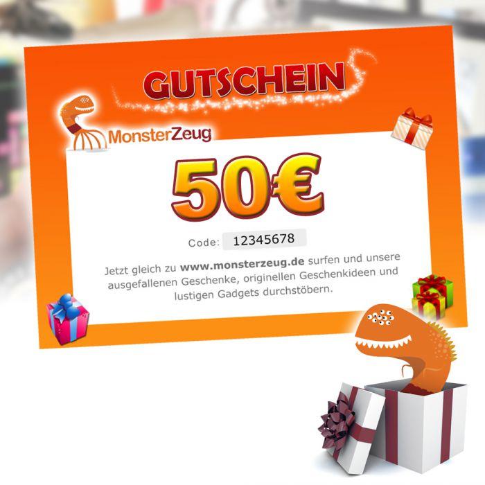 geschenk gutschein 50 euro monsterzeug geschenk gutschein. Black Bedroom Furniture Sets. Home Design Ideas