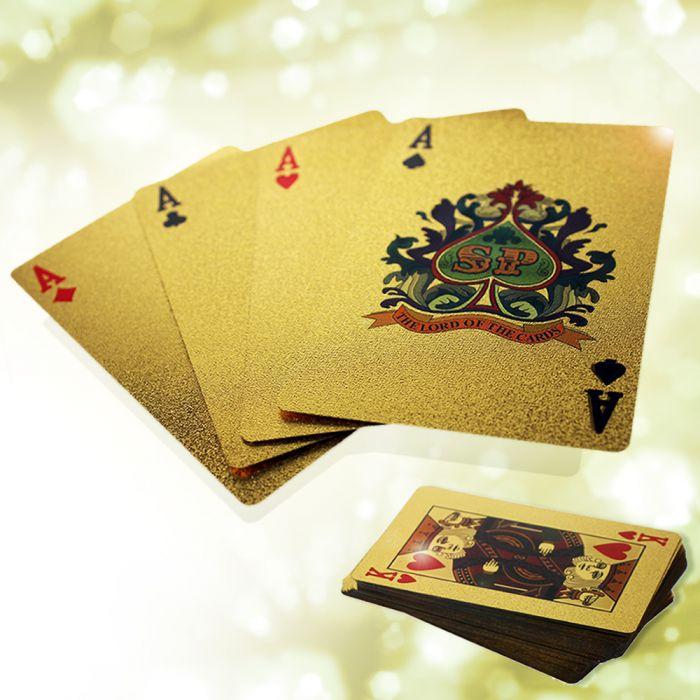 Partybedarfpartyspiele - Goldenes Kartenspiel - Onlineshop Monsterzeug