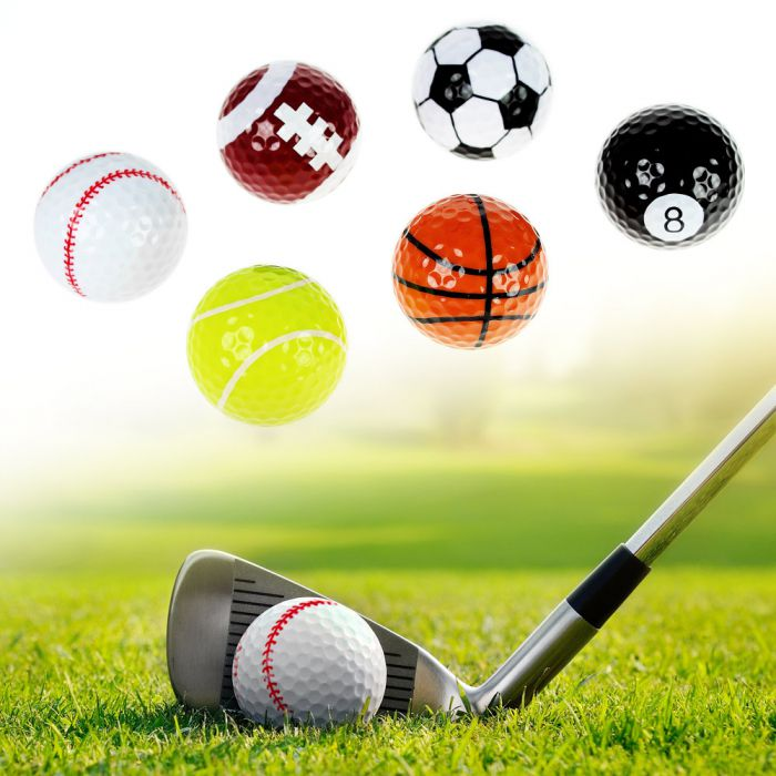 golfb lle sportmotive als lustiges geschenk f r golfer. Black Bedroom Furniture Sets. Home Design Ideas