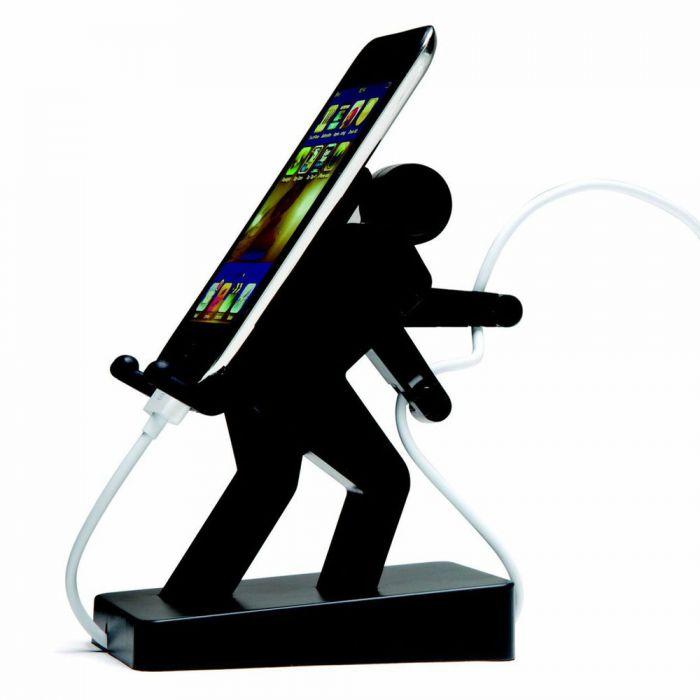 handyhalter boris schultert dein smartphone und tr gt das kabel. Black Bedroom Furniture Sets. Home Design Ideas