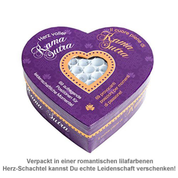 Herz voller Kamasutra - Set mit 69 Losen für Paare