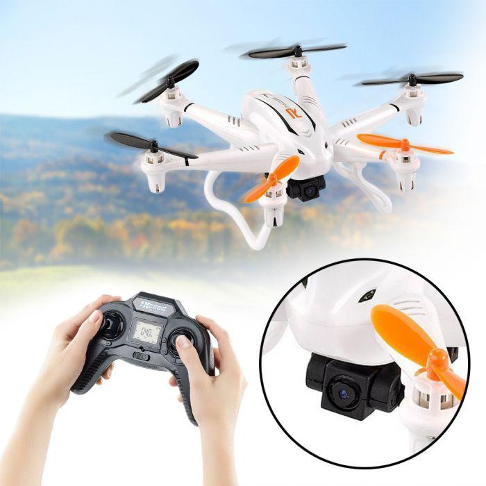 Hexacopter mit Fernsteuerung und HD-Kamera