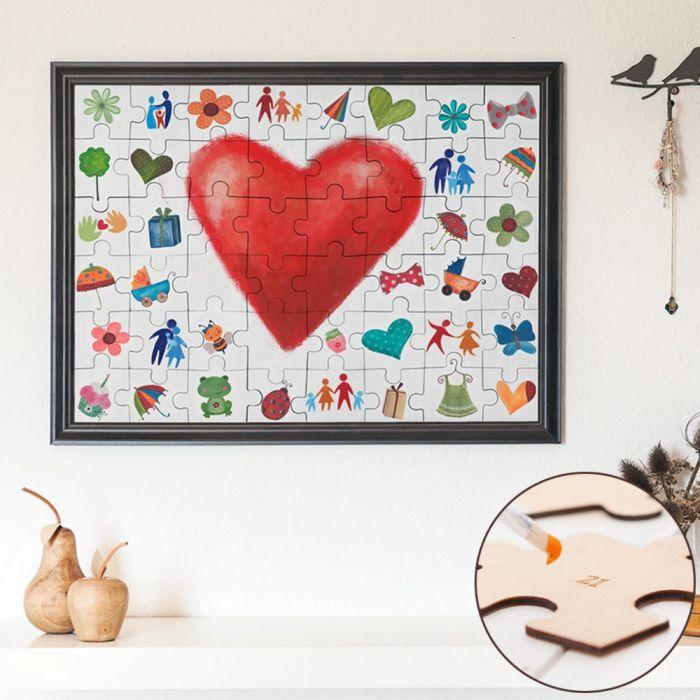 hochzeit puzzle zum bemalen sch ne erinnerung an die. Black Bedroom Furniture Sets. Home Design Ideas