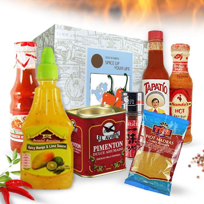 Köstlichgeschenksets - Hot and Spicy Geschenkbox Spice Up Your Life - Onlineshop Monsterzeug