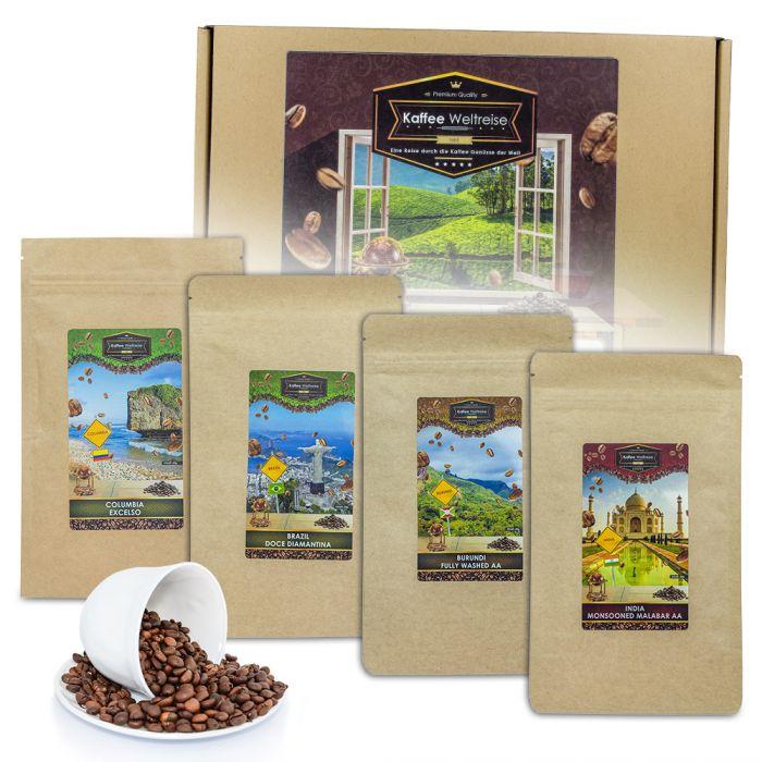 Köstlichgeschenksets - Kaffee Weltreise Geschenkbox - Onlineshop Monsterzeug