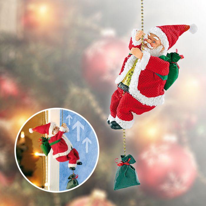 kletternder weihnachtsmann santa crawl animiert mit sound. Black Bedroom Furniture Sets. Home Design Ideas