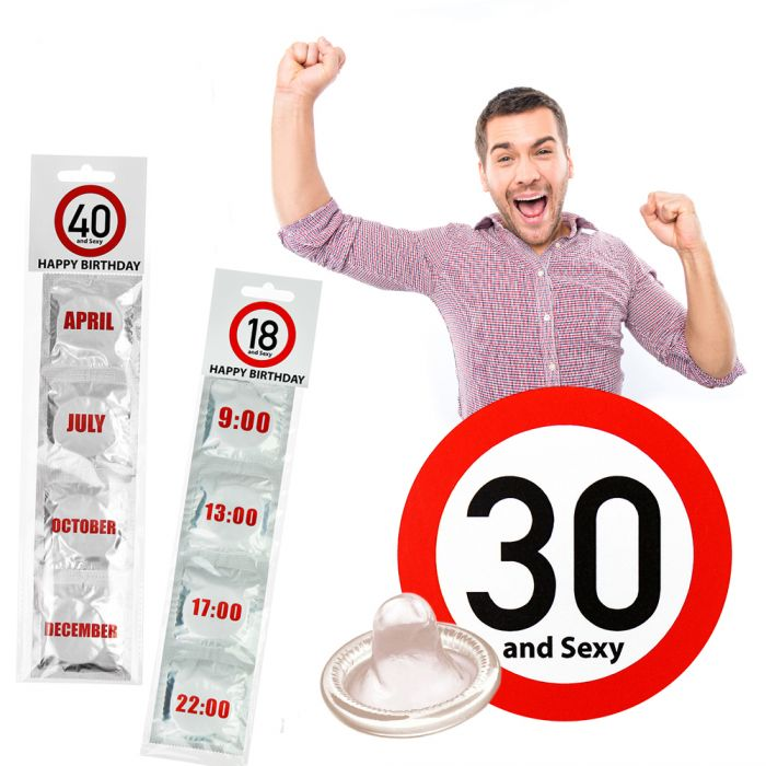 Kondome 4er Set Zum Geburtstag