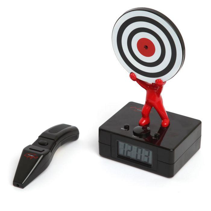 Laser Wecker Mit Zielscheibe Schiess Das Alarmsignal Aus
