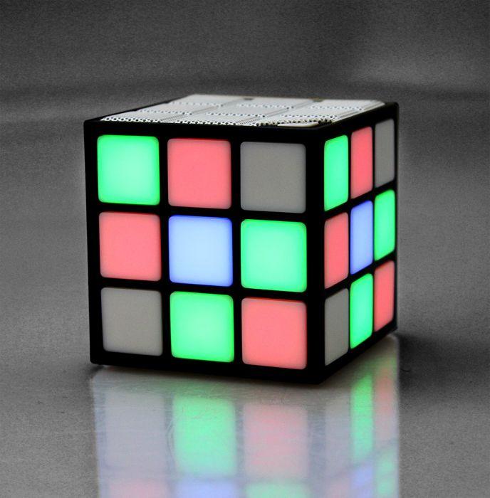 Cube haut-parleur LED