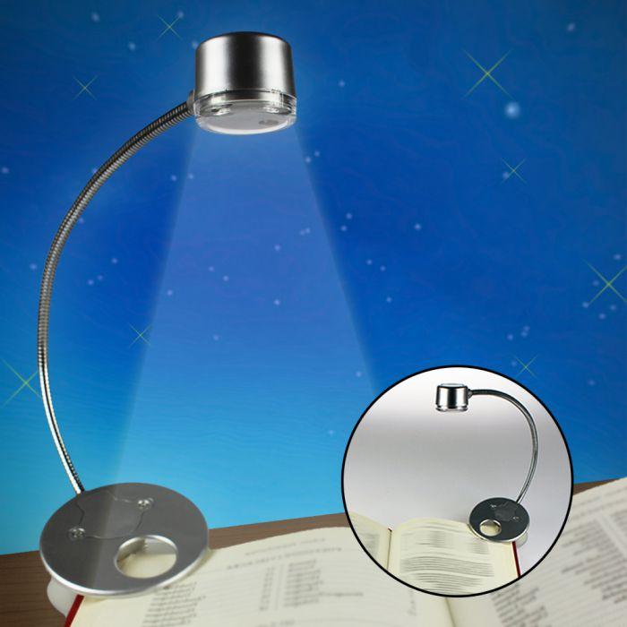 led leselampe leuchte befestigt sich an b chern und notebooks. Black Bedroom Furniture Sets. Home Design Ideas