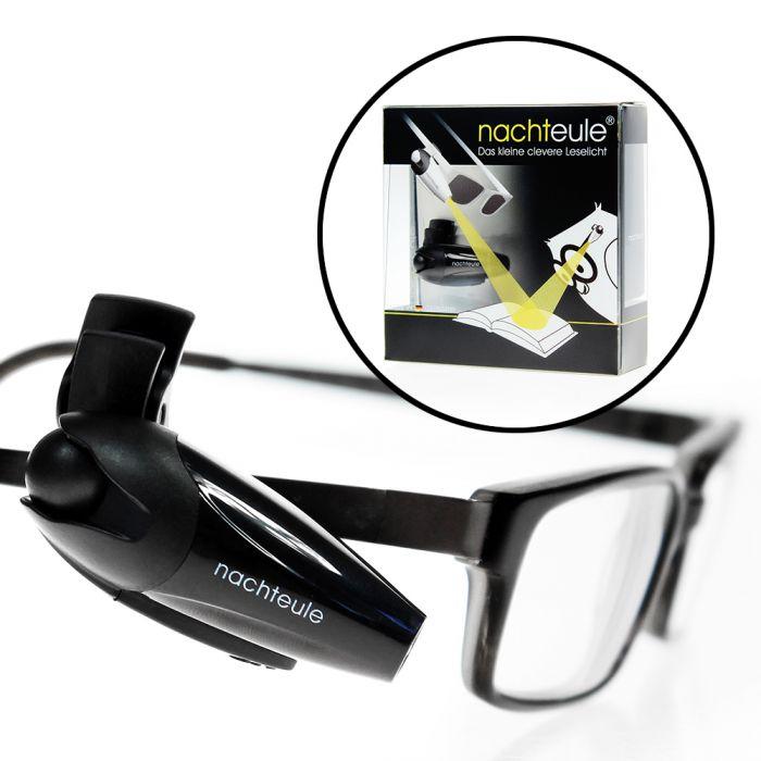 mobile led leselampe f r die brille leselicht zum anklemmen. Black Bedroom Furniture Sets. Home Design Ideas