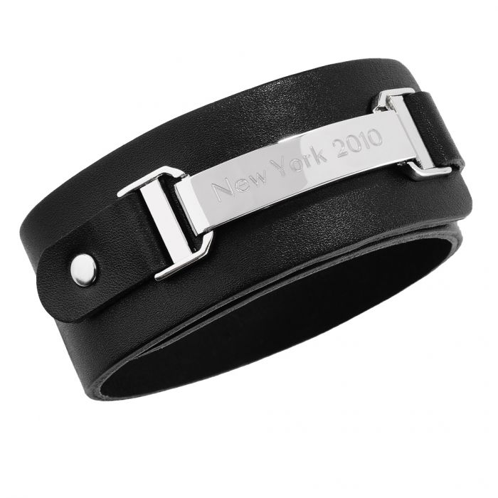 lederarmband mit gravur edles armband mit pers nlicher. Black Bedroom Furniture Sets. Home Design Ideas