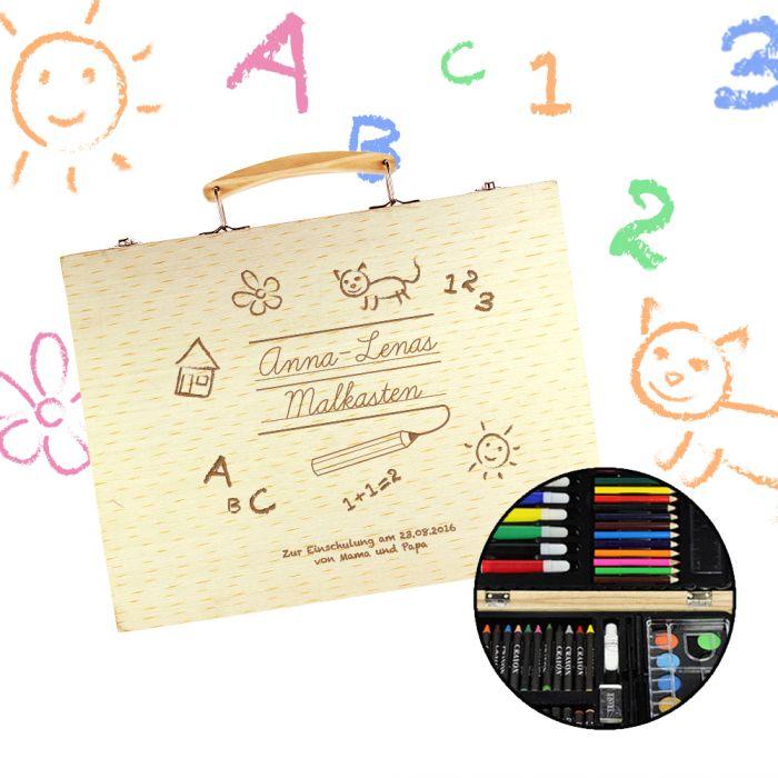 Einschulung Berechnen : 67 teiliges malkasten set mit holzkoffer zur einschulung ~ Themetempest.com Abrechnung