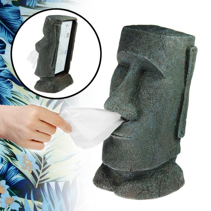 Schön Moai Taschentuchspender   Steingesicht