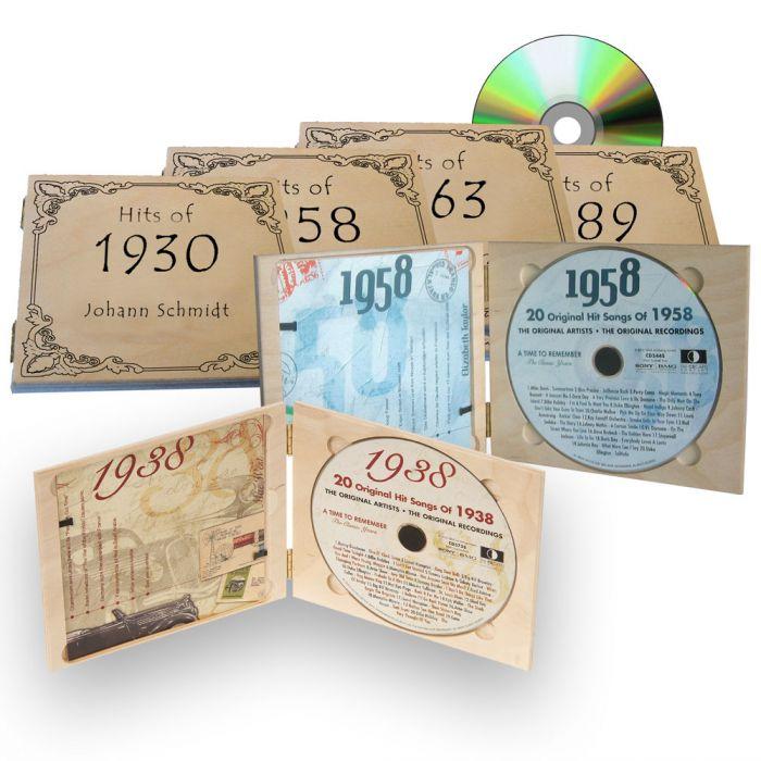 Personalisierte jahreshits cd mit individueller gravur for Geschenke zum 70 geburtstag mama