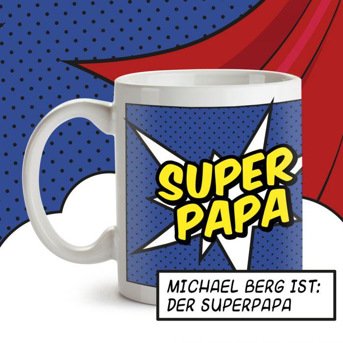 Personalisierte Supercape Tasse - Papa