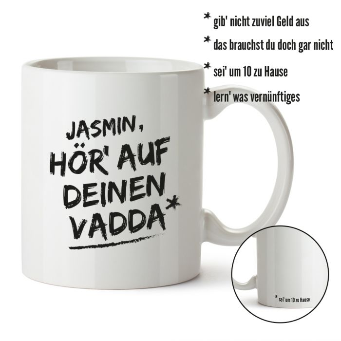 personalisierte tasse h r auf deinen vadda individueller druck. Black Bedroom Furniture Sets. Home Design Ideas