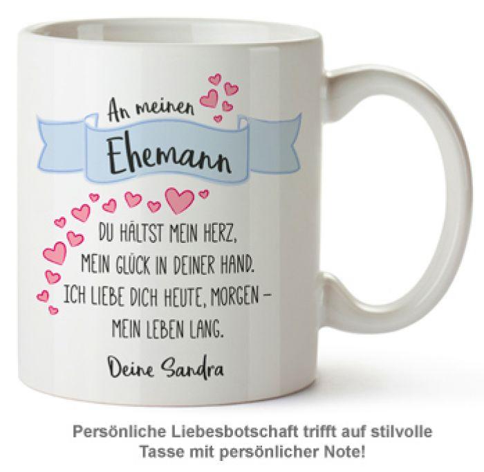 Personalisierte Tasse - Liebesgedicht Ehemann