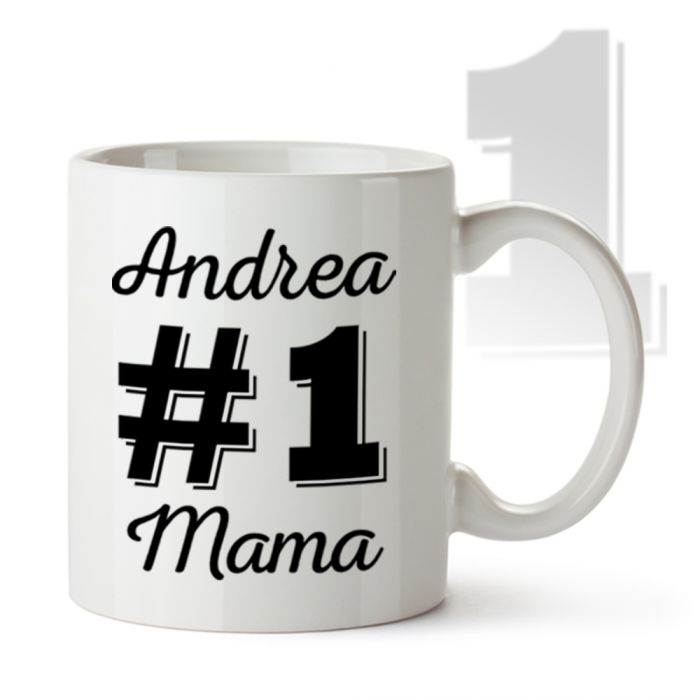 personalisierte tasse nummer 1 mama mit namen der mutter. Black Bedroom Furniture Sets. Home Design Ideas