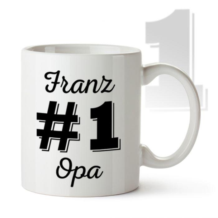 personalisierte tasse nummer 1 opa mit namen des opi. Black Bedroom Furniture Sets. Home Design Ideas