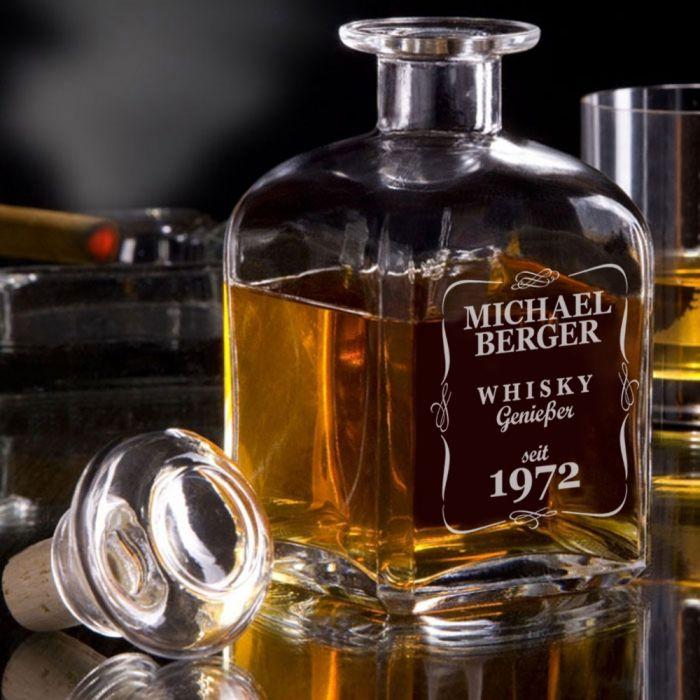 personalisierte whisky karaffe klassisch mit eigener gravur. Black Bedroom Furniture Sets. Home Design Ideas