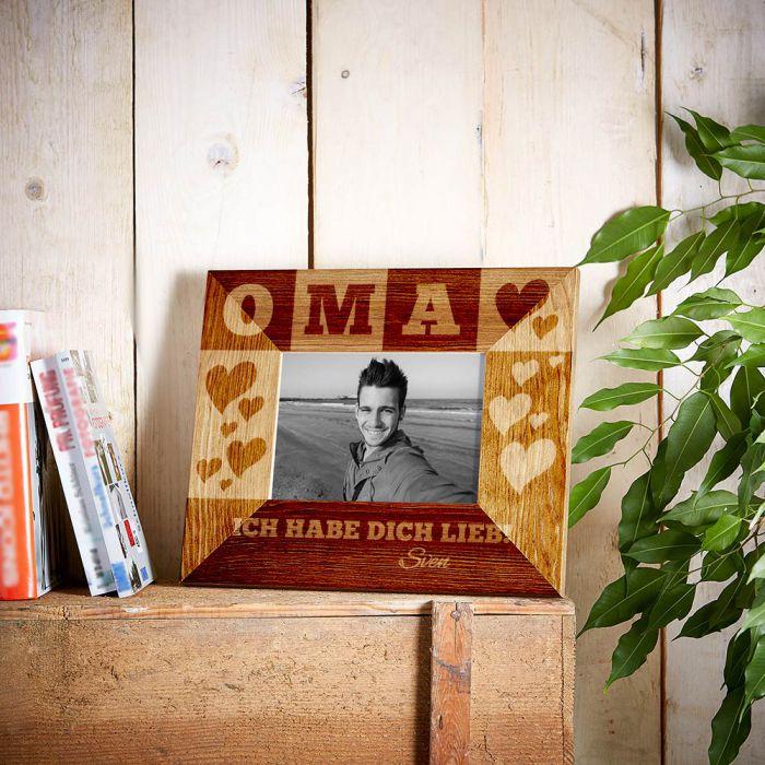 Personalisierter Bilderrahmen für Oma - mit Euren Namen
