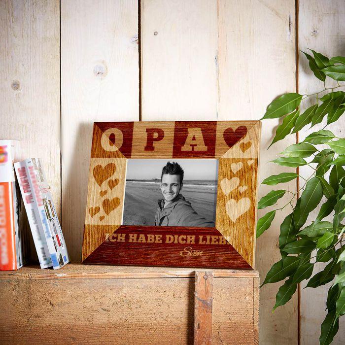 Personalisierter Bilderrahmen für Opa - mit Euren Namen