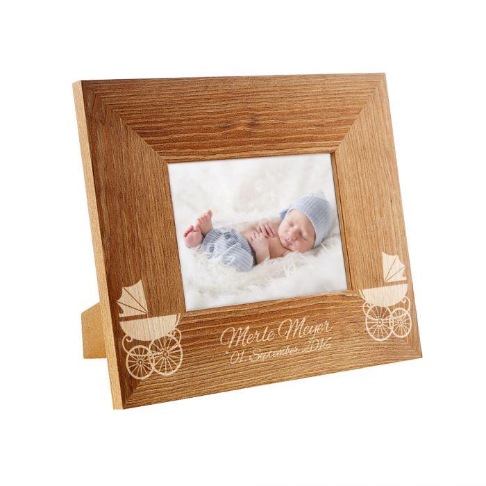Personalisierter Fotorahmen zur Geburt - für 12 x 17 cm Foto
