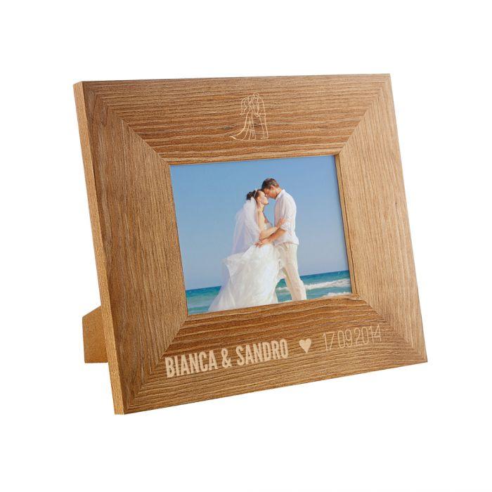 Personalisierter Bilderrahmen zur Hochzeit - Silhouette Motiv