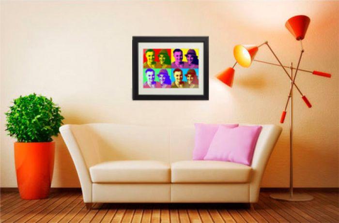 tableau personnalis pour couples pop art. Black Bedroom Furniture Sets. Home Design Ideas