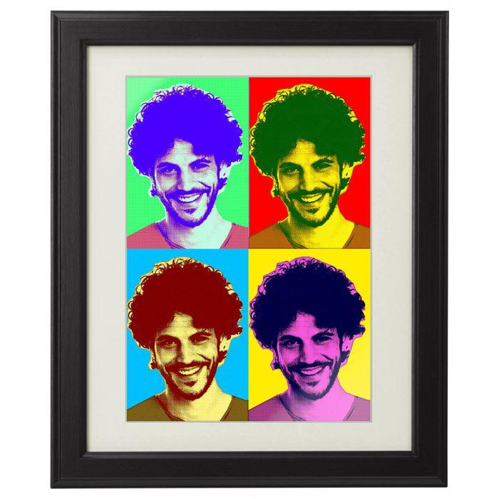 personalisiertes pop art bild portrait von deinem foto. Black Bedroom Furniture Sets. Home Design Ideas