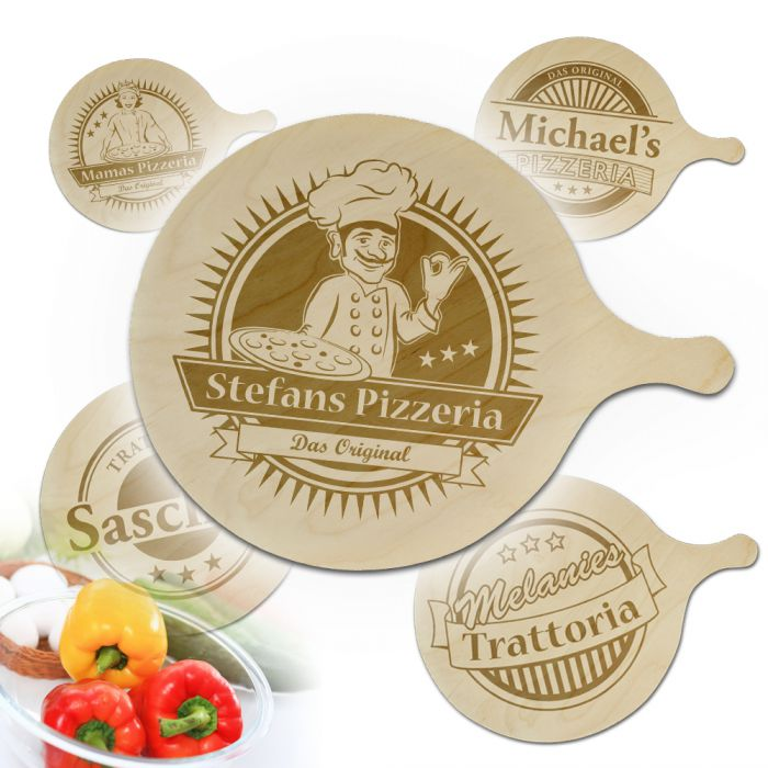 Pizzabrett mit Gravur