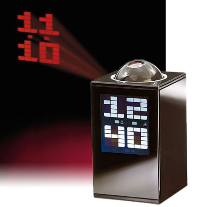 projektionsuhr wanduhr mit led display und wecker. Black Bedroom Furniture Sets. Home Design Ideas
