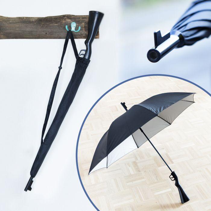 Regenschirm - Gewehr Origineller Schirm öffnet durch Gewehrabzug