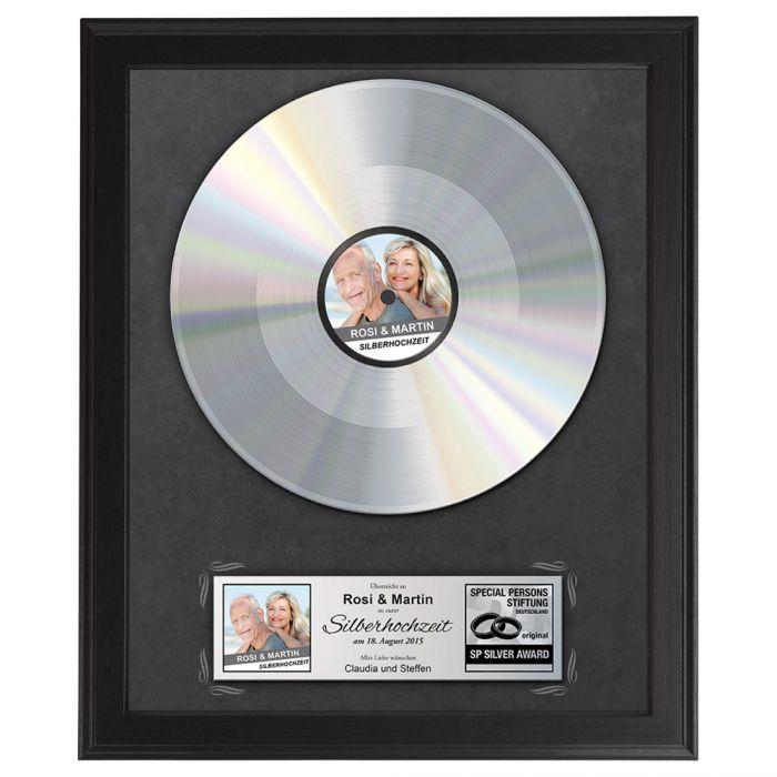 Individuellfotogeschenke - Schallplatte personalisiert zur Silbernen Hochzeit - Onlineshop Monsterzeug